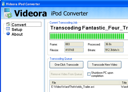 Videora Conversion Program